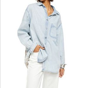 Free people button shirt